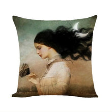 Load image into Gallery viewer, Moon Light Series Decorative Cushion Cover Cotton Linen Pillowcase Decor