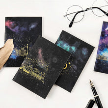 Load image into Gallery viewer, Space Gold Foiled Notebook Journal for Kids or Adults