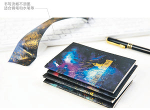Space Gold Foiled Notebook Journal for Kids or Adults