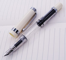 Load image into Gallery viewer, Wingsung 698 Transparent Fountain Pen - 0.38/0.5mm Gold / Silver Clip with Gift Box