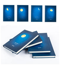"Load image into Gallery viewer, ""Moon Cycle"" Hardcover Beautiful Lined Papers Notebook Journal"
