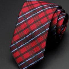 Red Flannel Skinny Tie