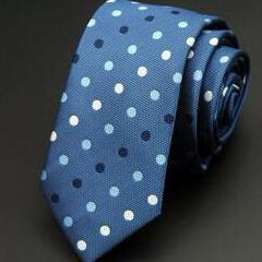 Shades of Blue Dotted Skinny Tie