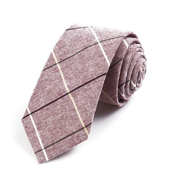 Purple Plaid Skinny Tie