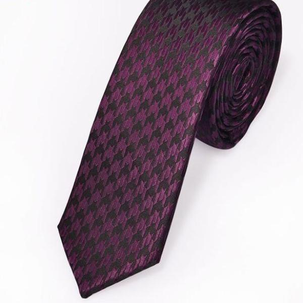 Fuschia Arrow Skinny Tie