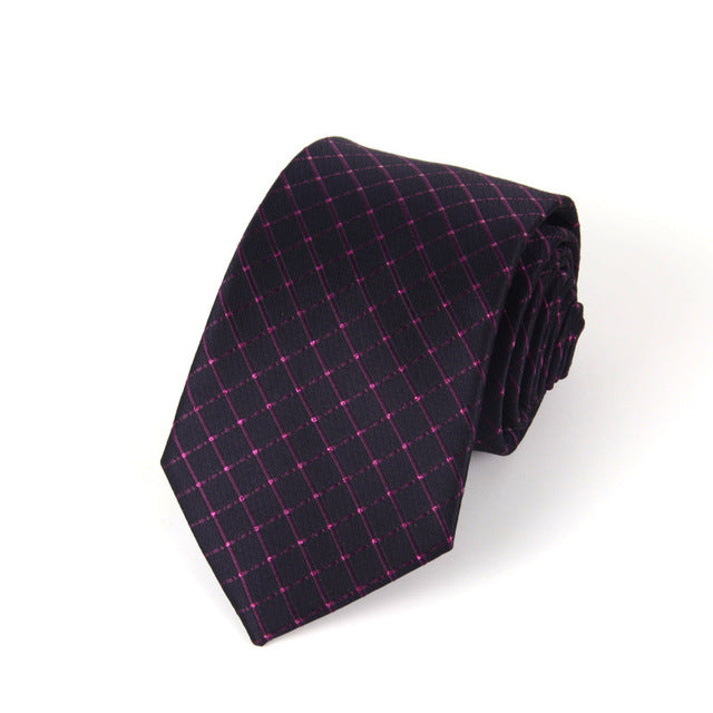 Traditional Red Checker Tie