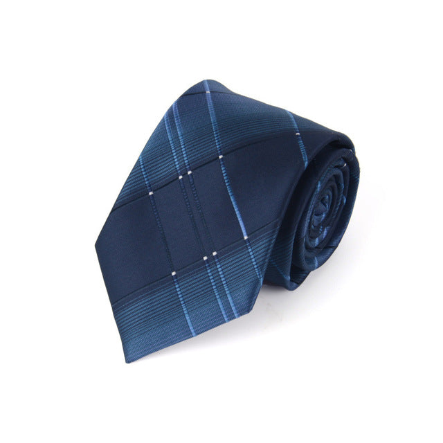 Traditional Business Blue Fine Lines Tie