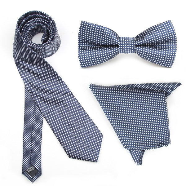 Navy Blue Gingham Combo Set