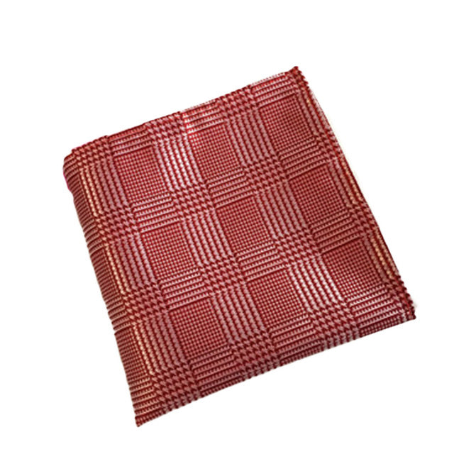Red Checker Plaid Pocket Square