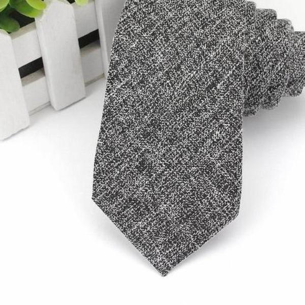 Vintage Classic Black and White Skinny Tie