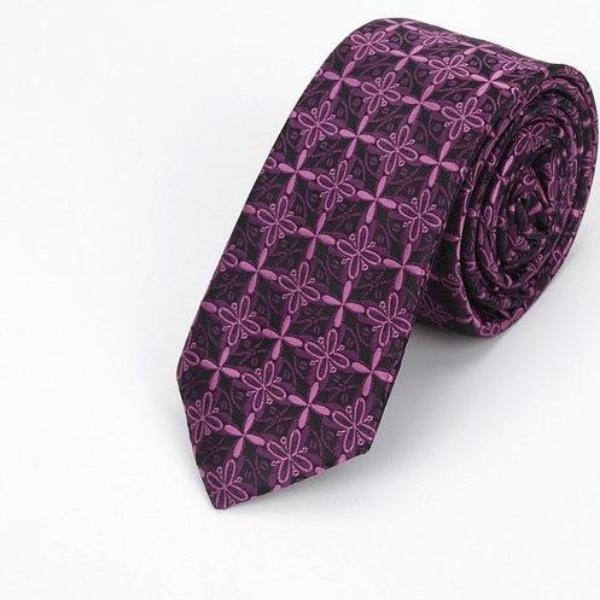 High Fashion Violet Windmill Skinny Tie