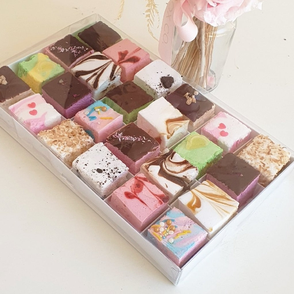 Sweets Table Ideas - 24 Piece Assorted Handcrafted Marshmallow Box