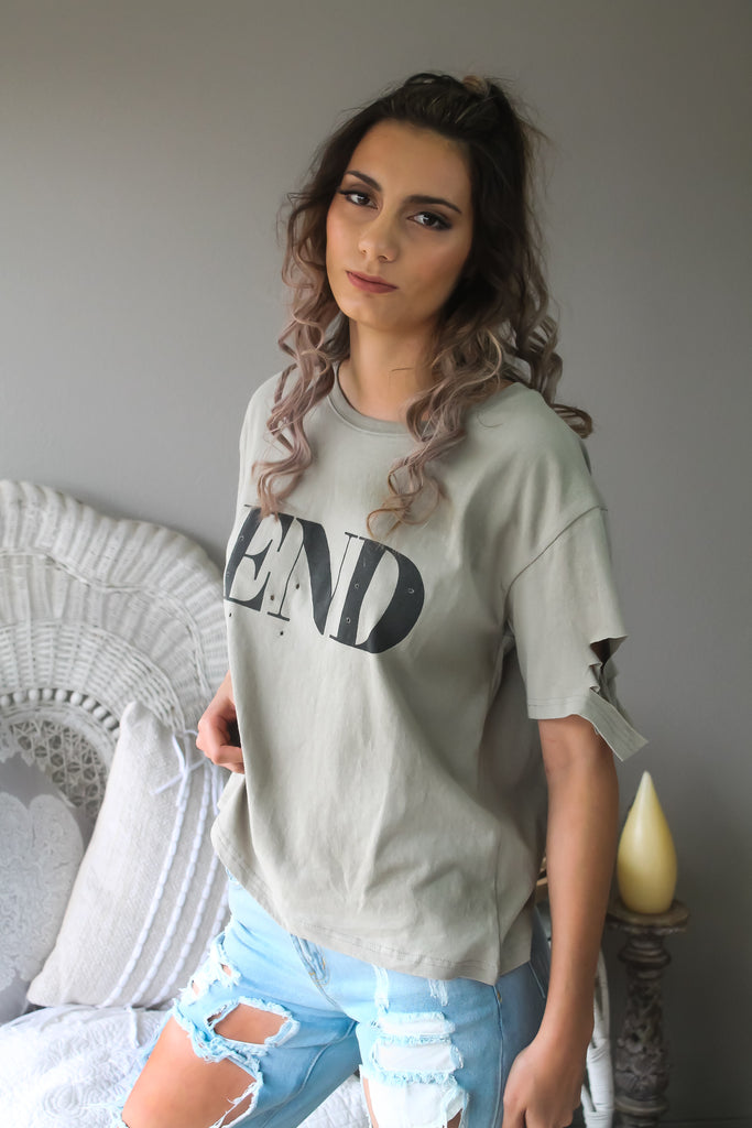 THE END TEE KHAKI