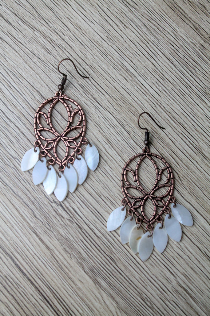 LACEY HOLLOW DROP EARRING