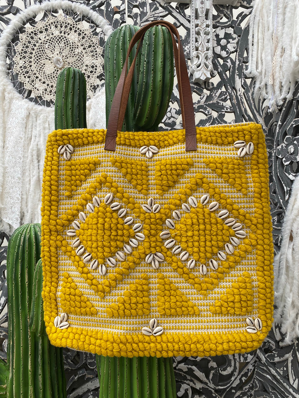 Sac Cabas Etna Yellow Wild by Amenapih