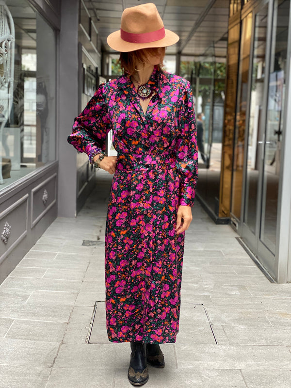 Robe Longue Venise Pink Wild by Amenapih