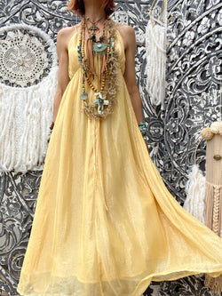 Robe Alba Long Marbella Yellow Sundress