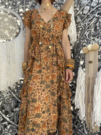 Robe Longue Sugar Caramel Wild By Amenapih