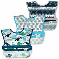 Snap & Go Wipe-Off Bibs (3 Pack)