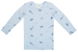 Blue Space Long Sleeve Top