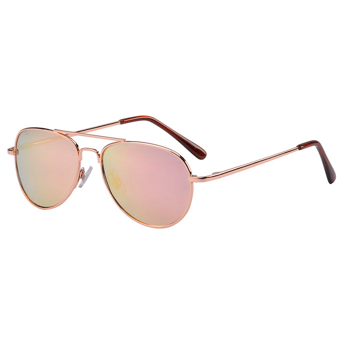 Jet Rose Gold Aviator Sunglasses (3 Years and Up)