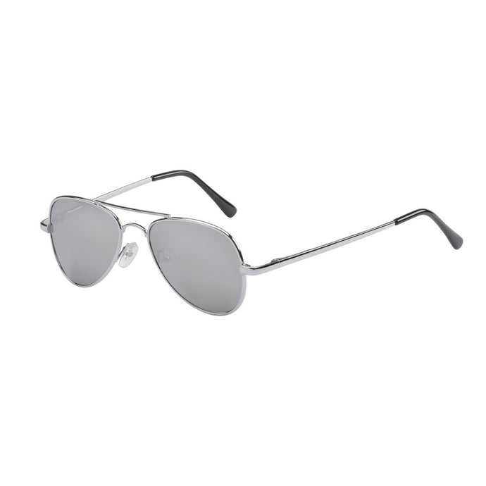 Jet Silver Metal Aviator Sunglasses (3 Years and Up)