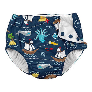 Navy Pirate Ship Swim Nappy