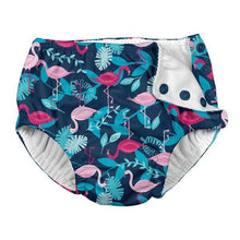 Navy Flamingo Swim Nappy