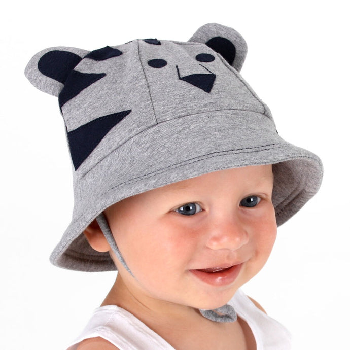 Bed Head Baby Bucket Hat Lil Tiger Grey