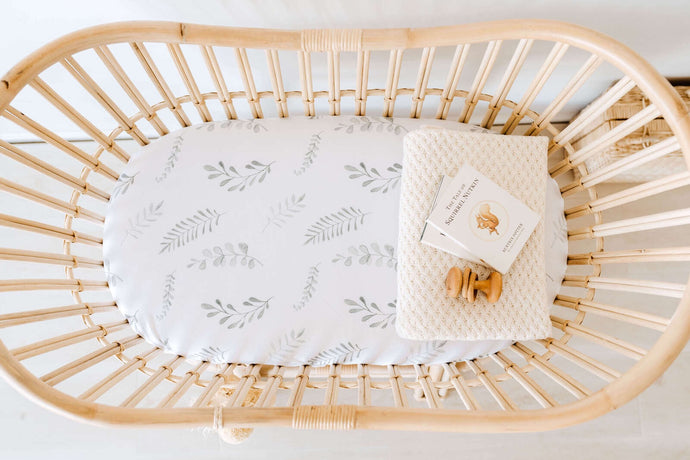Wild Fern Bassinet Sheet & Change mat cover