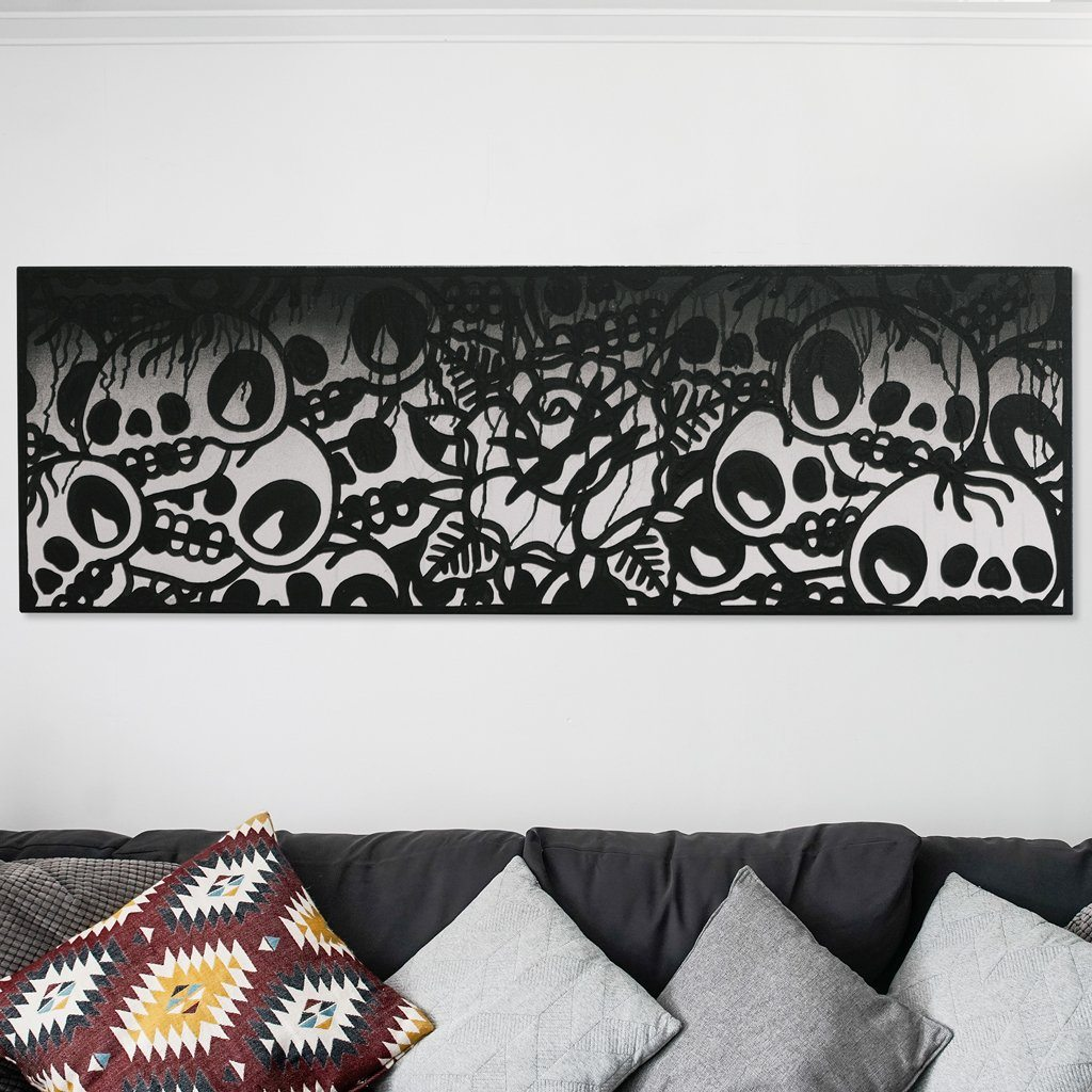 Original Canvas Deposit: 143x48cm (56x19in) Canvas Original Artwork