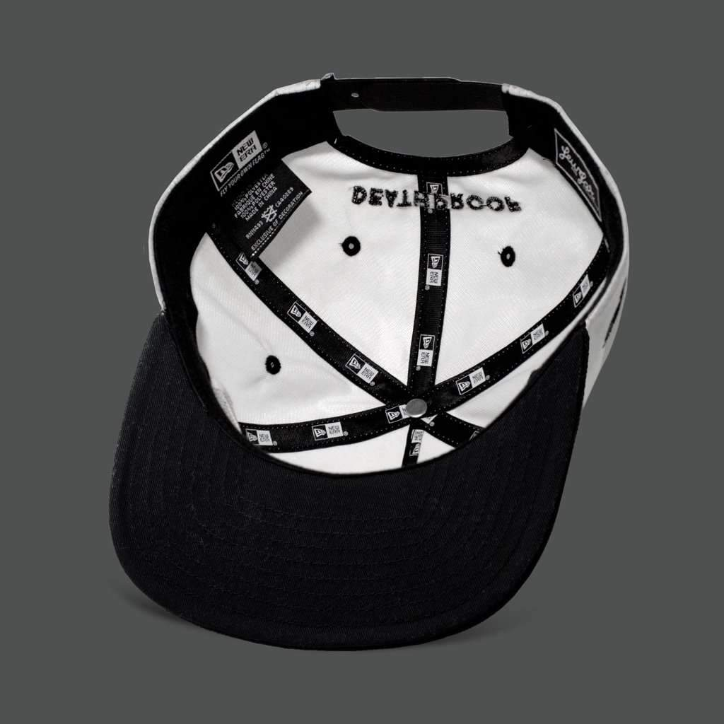 White Ripstop/Black 'Deathproof' THE GOLFER Snapback - Steenjones