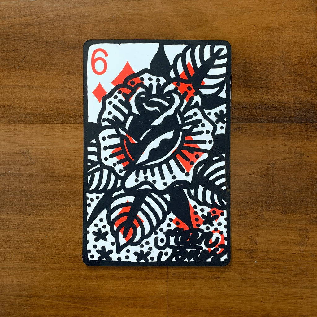 Custom Painted Oversized Playing Card - Steenjones