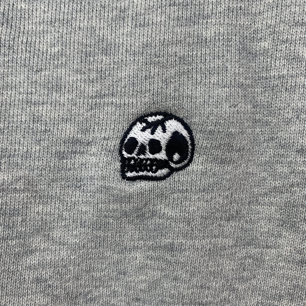 Steen Jones Embroidered Skull Hoodie - AS Colour Select Grey / Large - Steenjones