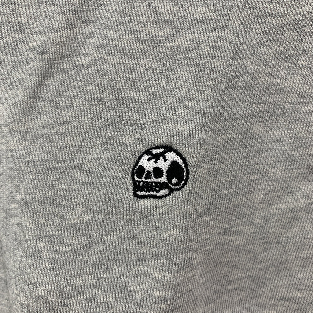 Steen Jones Embroidered Skull Crew Neck - AS Colour Grey / X-Large - Steenjones