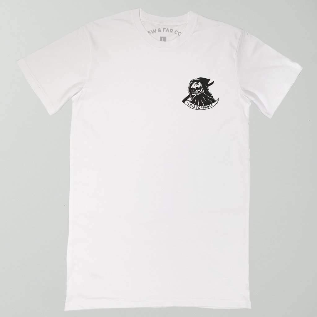 White 'Unstoppable' Tall Tee - Steenjones