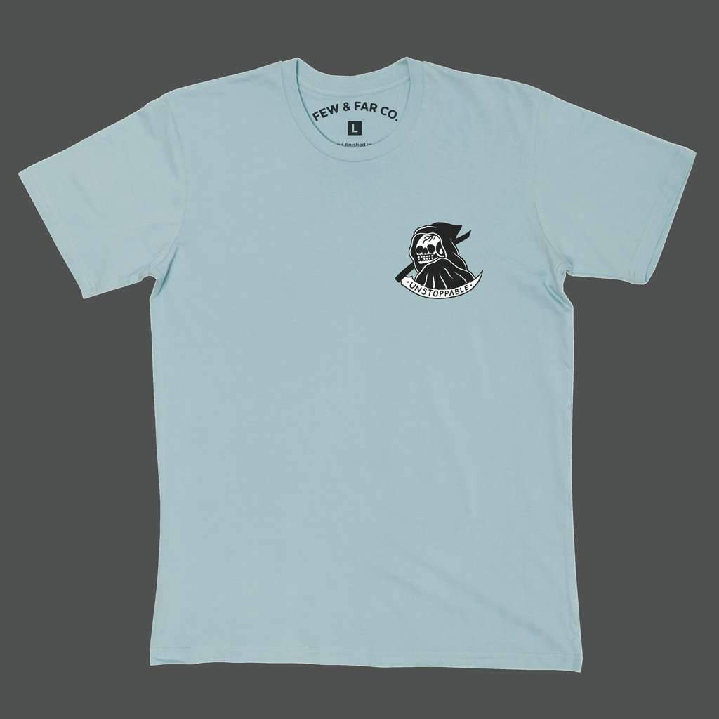 Pale Blue 'Unstoppable' Tee - Steenjones