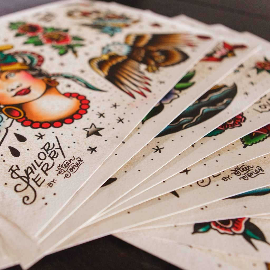 Steen Jones x Sailor Jerry 'Flash' Fine Art Print Set (10) - Steenjones