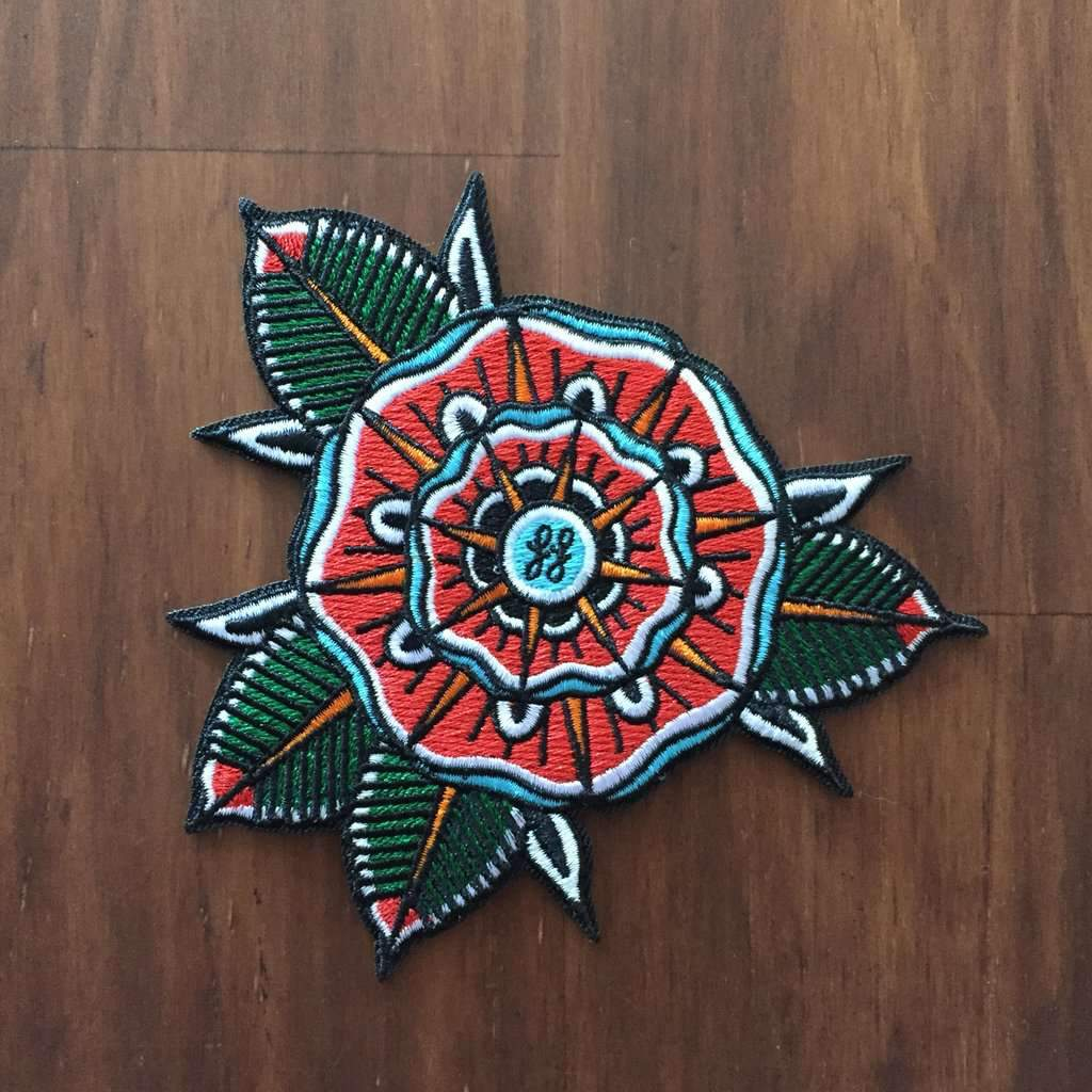 'Geoflower' Embroidered Patch - Steenjones
