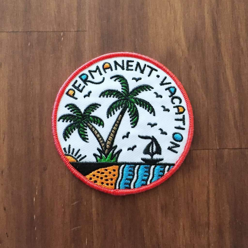 'Permanent Vacation' Embroidered Patch - Steenjones