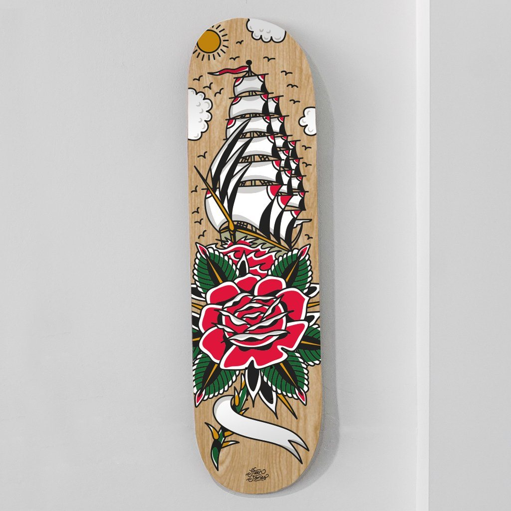 Personalised 'Sail Away With Me' Skate Deck [MISPRINT] - Steenjones