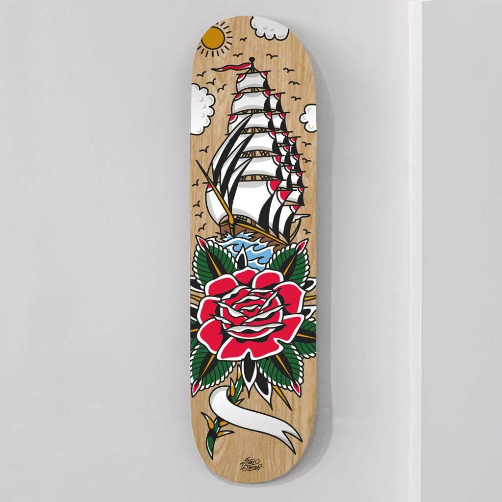 Personalised 'Sail Away With Me' Skate Deck - Steenjones