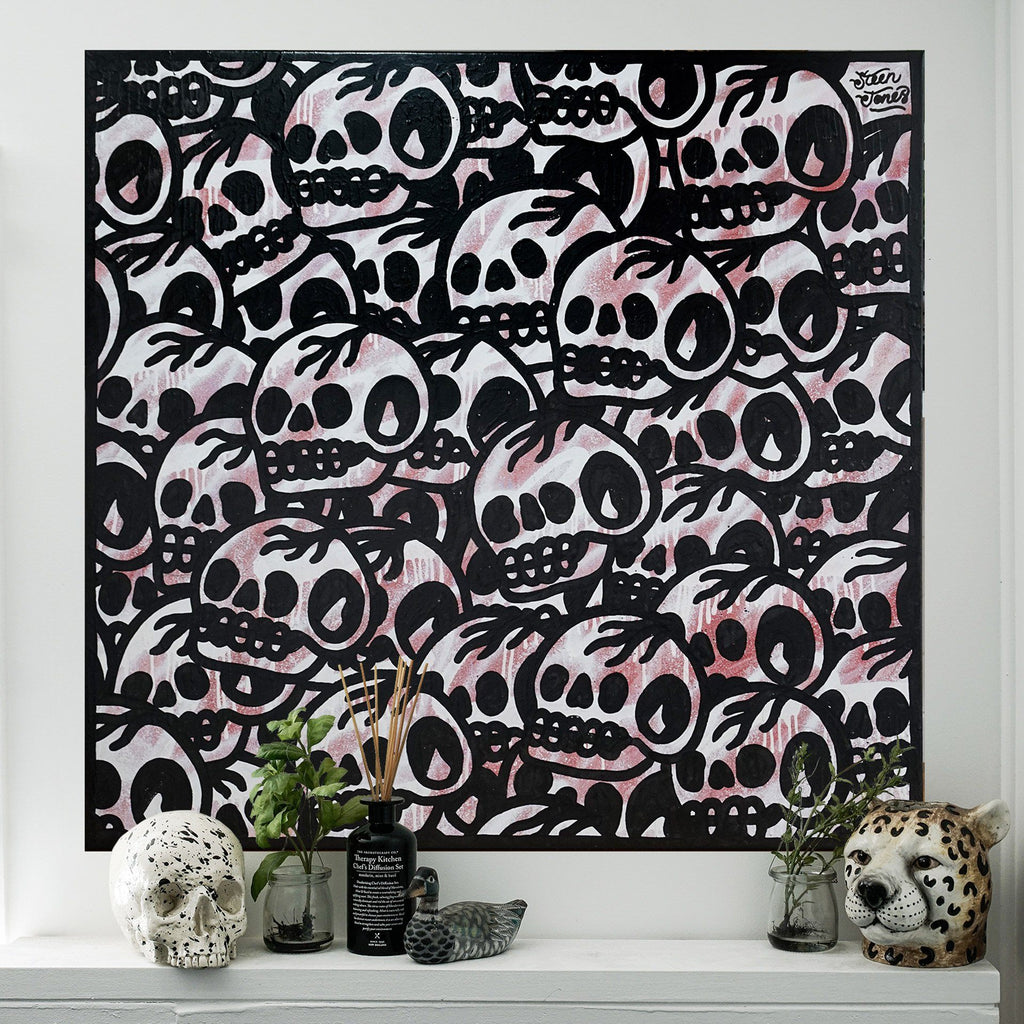 1 of 1 'Trademark Skull' Canvas - Steenjones