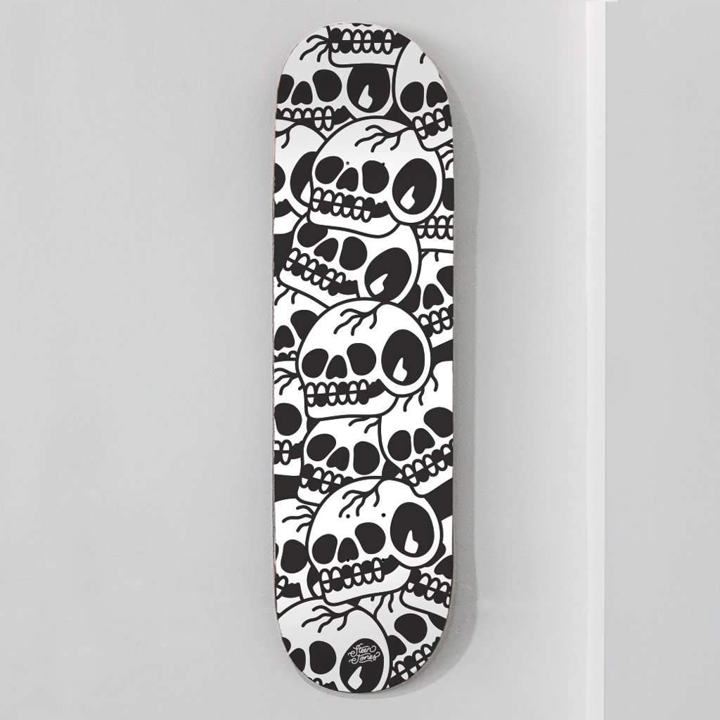 'Trademark Skull' Embossed Skate Deck - Steenjones