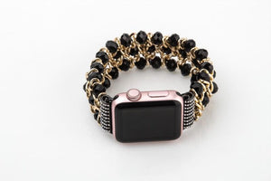 Apple Watch Bling Beads Stretch Bracelet Jewelry Watchband Stand
