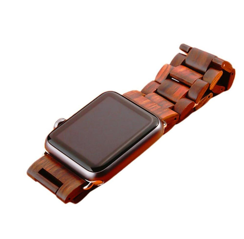 Apple Watch Natural Wooden Butterfly Buckle Watchband Stand
