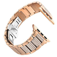 Apple Watch Inner Bling Band Watchband Stand Rose Gold 38mm