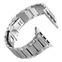 Apple Watch Inner Bling Band Watchband Stand Silver 38mm