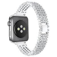 Bling Band for Apple Watch Jewelry Watchband Stand style1-Sliver for 38mm
