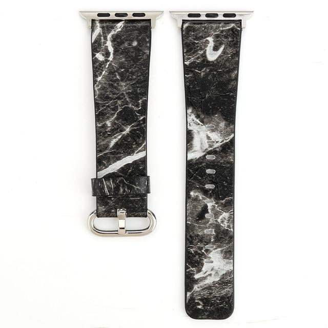 Apple Watch Marble Band WatchBand Stand Black 38mm